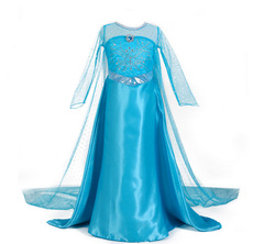 Платье Эльзы юбка в пол, с длинным шлейфом