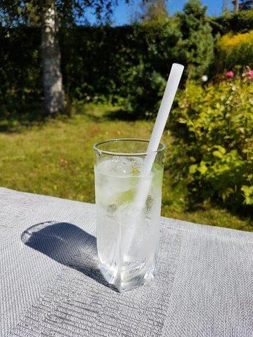 Трубочка стеклянная прямая белая
