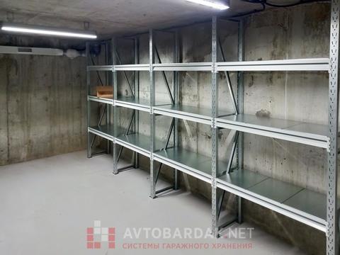 Металлические стеллажи усиленные (глубина 400, высота 2000 мм)
