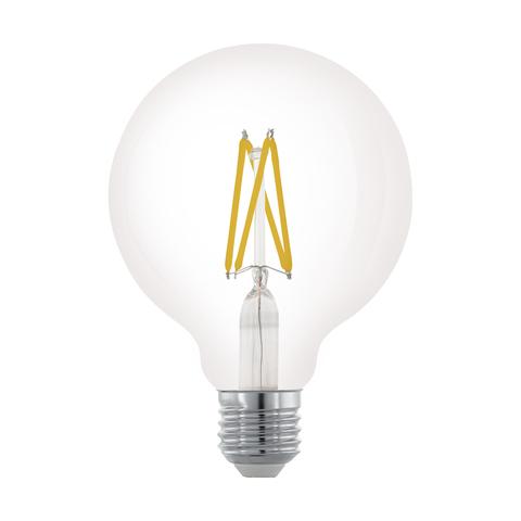 Лампа LED филаментная диммир. прозрачная Eglo CLEAR LM-LED-E27 6W 806Lm 2700K G95 11703