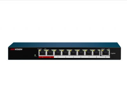 Неуправляемый PoE-коммутатор Hikvision DS-3E0109P-E/M