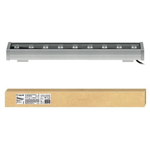 ULF-Q552 9W/WW IP65 SILVER Прожектор светодиодный линейный, 500мм. Теплый белый свет. Угол 45 градусов. TM Volpe.