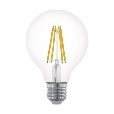 Лампа LED филаментная диммир. прозрачная Eglo CLEAR LM-LED-E27 6W 806Lm 2700K G80 11702