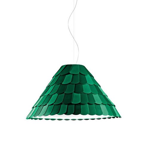 Подвесной светильник копия Roofer F12 by Benjamin Hubert (зеленый)