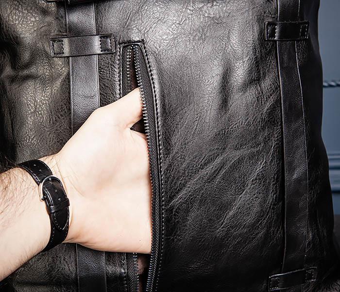 BAG532-1 Стильный мужской рюкзак из искусственной кожи фото 10