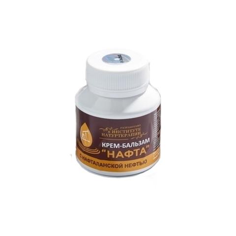 Крем-бальзам Нафта из нафталанской нефти для проблемной кожи 90мл/110 гр  ТМ Институт натуротерапии