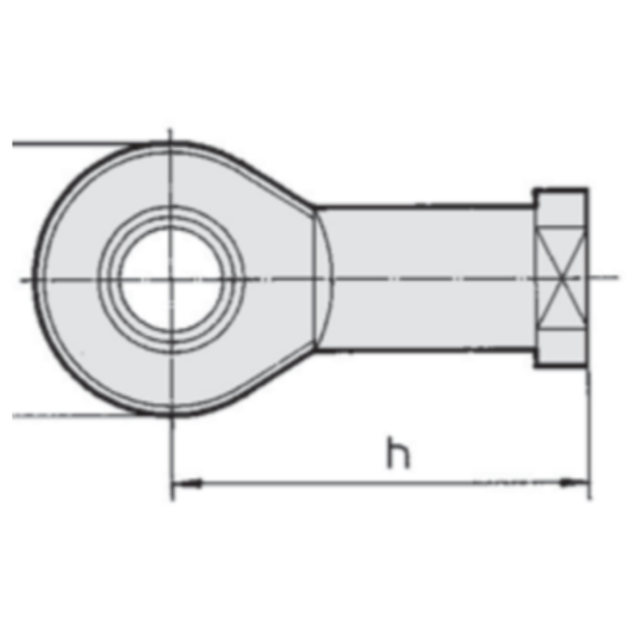 KJ10D  Шарнирный наконечник, внутр. резьба М10х1.25