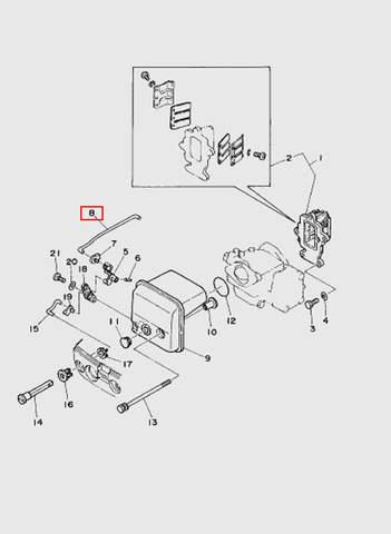 Тяга карбюратора  для лодочного мотора T15, OTH 9,9 SEA-PRO (4-8)