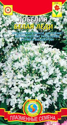 Семена Лобелия Белая леди, Мнг