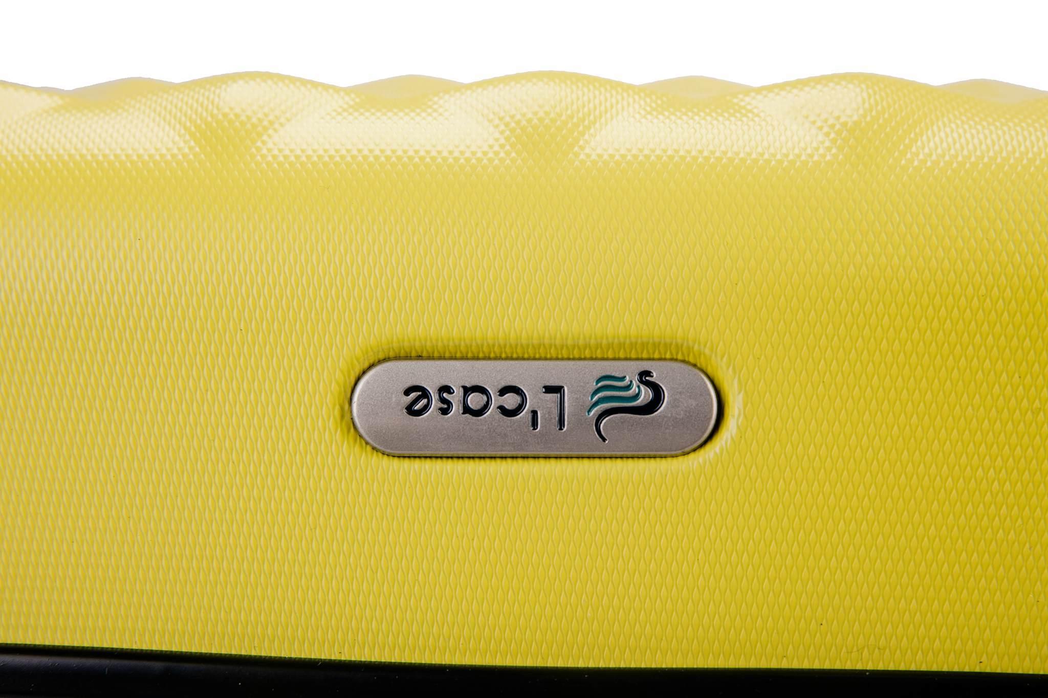 Чемодан с расширением L'case Phatthaya-24 Желтый (M+)