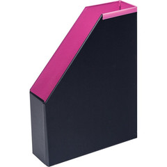 Вертикальный накопитель Bantex Модерн картонный розовый ширина 70 мм