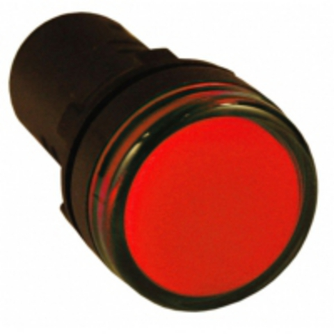 Лампа AD-22DS(LED)матрица d22мм красный 12В AC/DC TDM