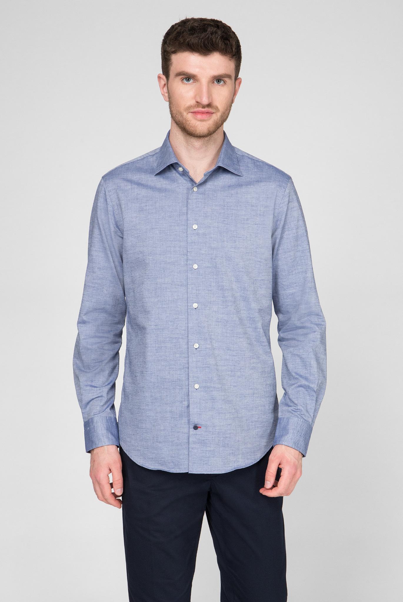 Мужская синяя рубашка Regular Fit Tommy Hilfiger