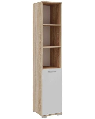 Шкаф-пенал ПКС-8 дуб сонома / белый глянец