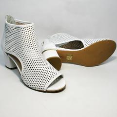 Летние ботинки ботильоны на каблуке Magnolya 3503 56-3 SummerWhite