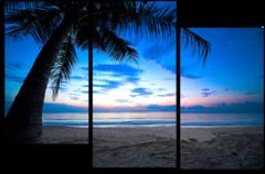 "Модульная картина ""Пляж на Карибах"""