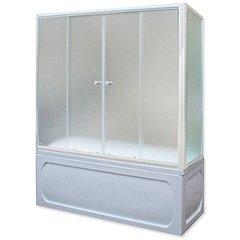Шторка для ванны 1Marka 150х140 МW каркас белый