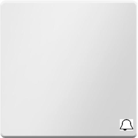 Выключатель одноклавишный, кнопочный (1 замыкатель, 1 размыкатель, раздельные входные клеммы) с оттиском символа «Звонок» 10 А 250 В~. Цвет Полярная белизна. Berker (Беркер). Q.1 / Q.3 / Q.7. 16206059+503203