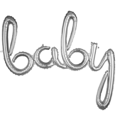 Надпись Baby серебро