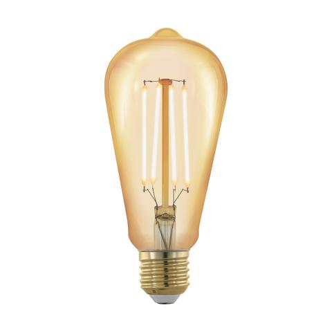 Лампа  LED филаментная диммир. золотого цвета Eglo GOLDEN AGE LM-LED-E27 4W 320Lm 1700K ST64 11696