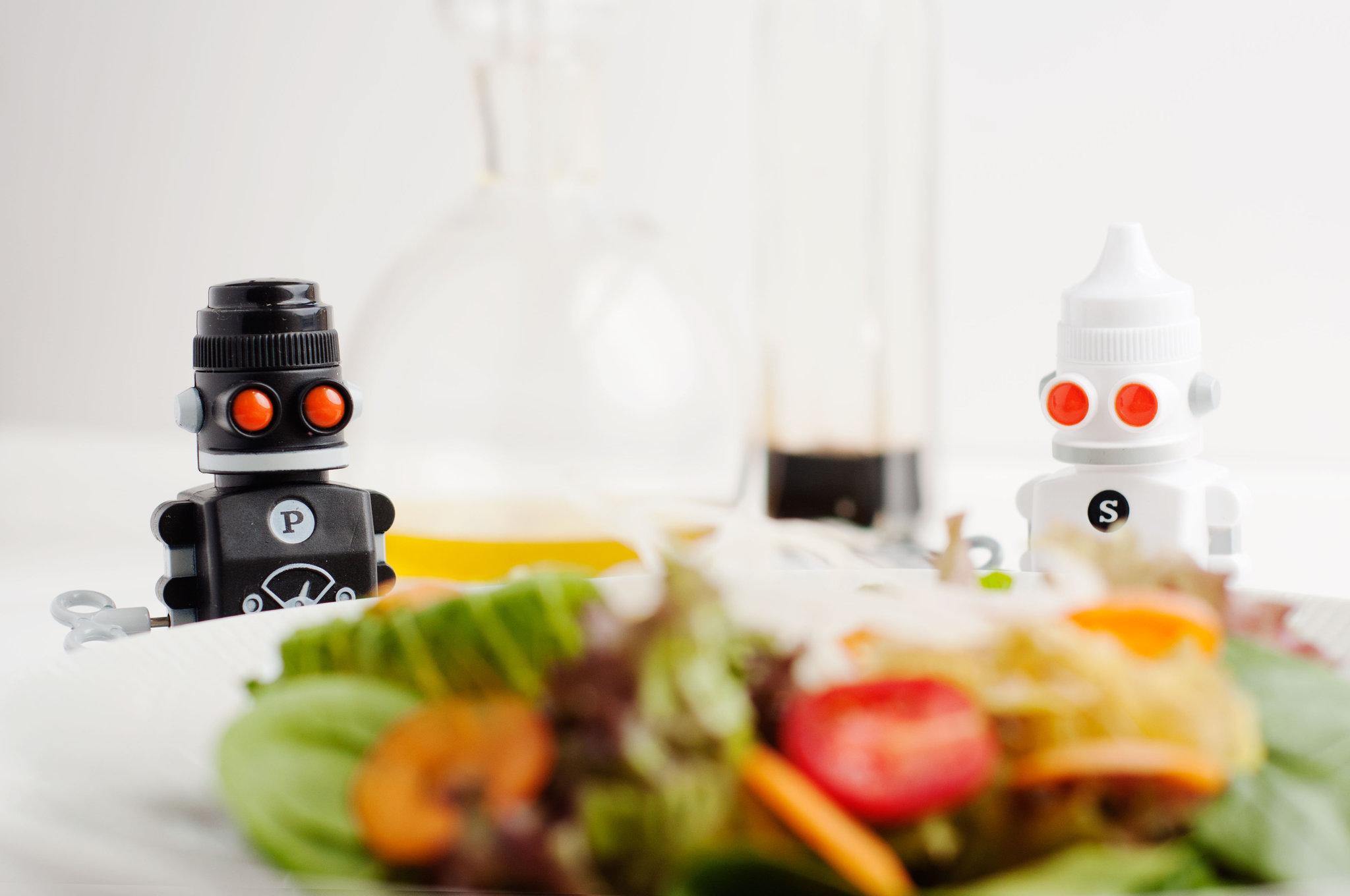 Набор солонка + перечница заводные роботы 'Bots Suck UK SK SAPBOT1 | Купить в Москве, СПб и с доставкой по всей России | Интернет магазин www.Kitchen-Devices.ru