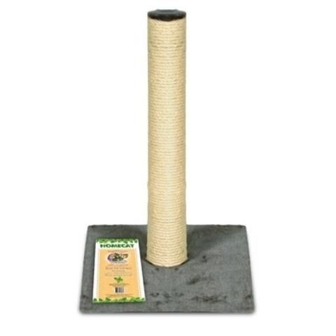 Homecat когтеточка-столбик для кошек ковролин джут серая 29,5*29,5*50