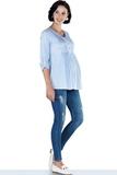 Джинсы для беременных 09469 синий