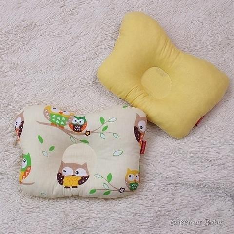 Подушка бабочка для новорожденных Совы (желтая)