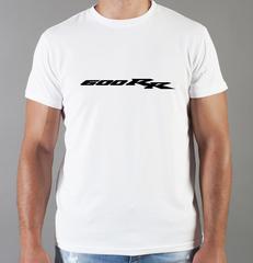 Футболка с принтом Honda CBR600RR (Хонда) белая 0028