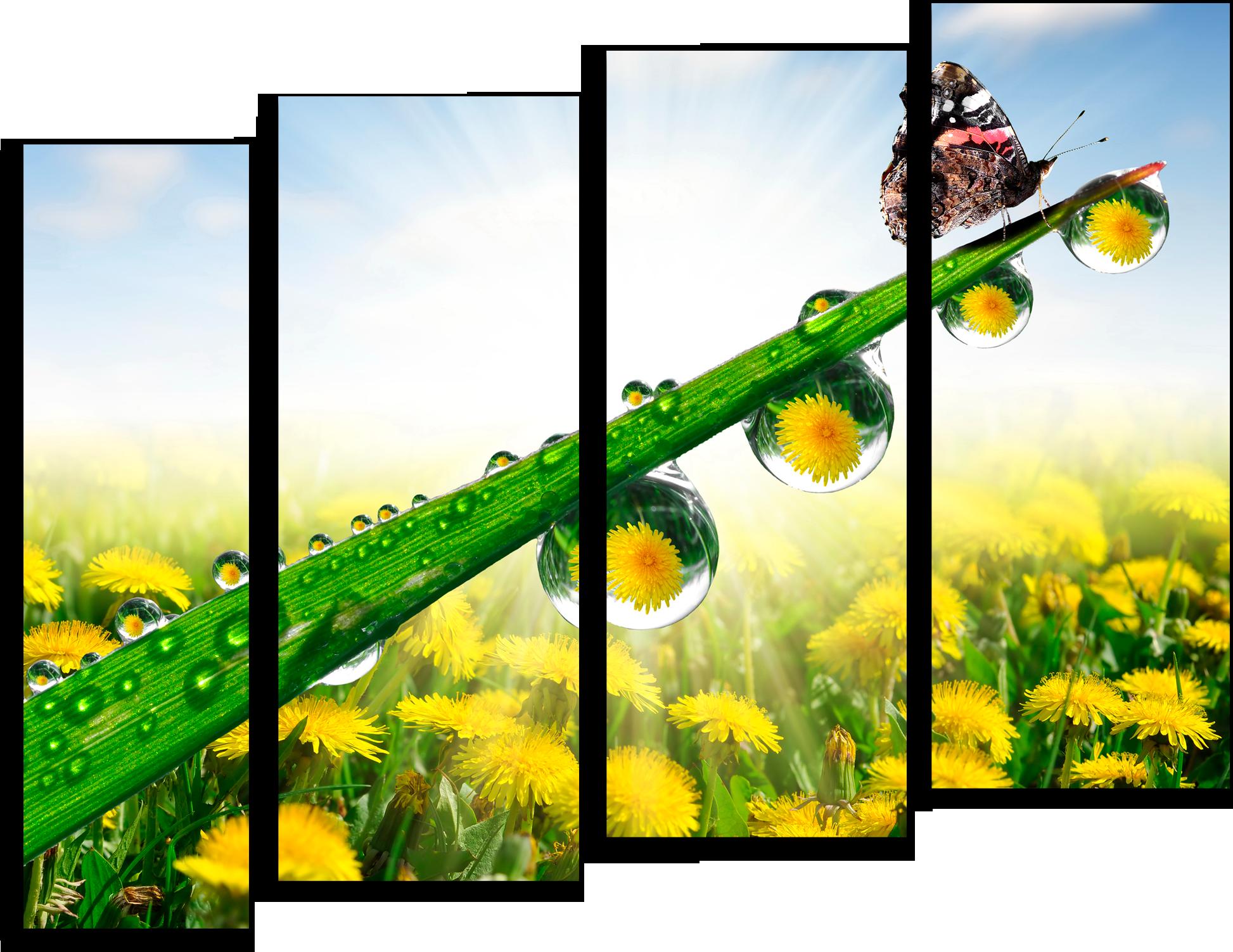 "Цветы Модульная картина ""Утренняя роса"" М395.png"