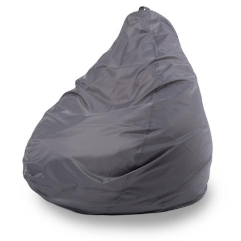 Бескаркасное кресло «Груша» L, Серый