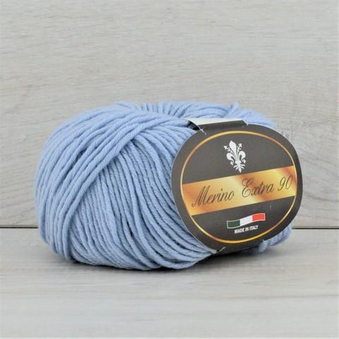 Пряжа Merino Extra 90 (Мерино экстра 90) Светло-голубой
