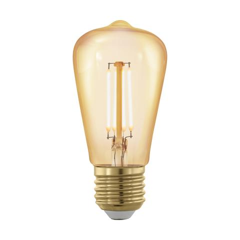 Лампа  LED филаментная диммир. золотого цвета Eglo GOLDEN AGE LM-LED-E27 4W 320Lm 1700K ST48 11695