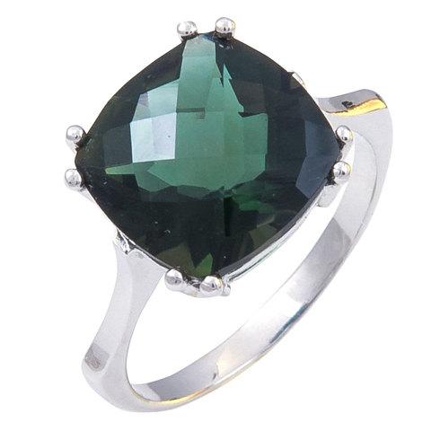 Кольцо из серебра с изумрудным турмалином Арт.1181ту