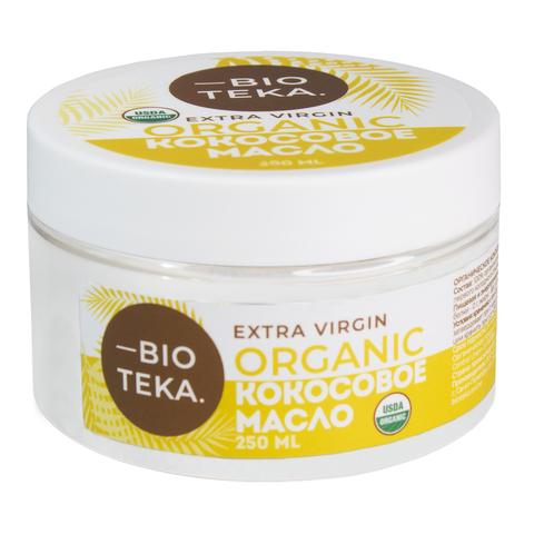 Органическое кокосовое масло нерафинированное Extra Virgin, 250 мл (BIO-TEKA)