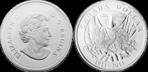 1 доллар Парки Канады. 100 лет организации. Канада. 2011 год