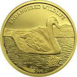 2006 год 1000 тугриков AU-999, Монголия Лебедь, 1,24 г