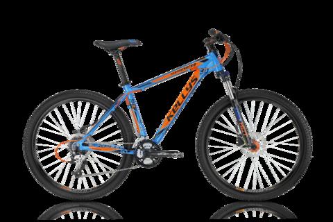 Kellys Spider 30 (2016) голубой с оранжевым