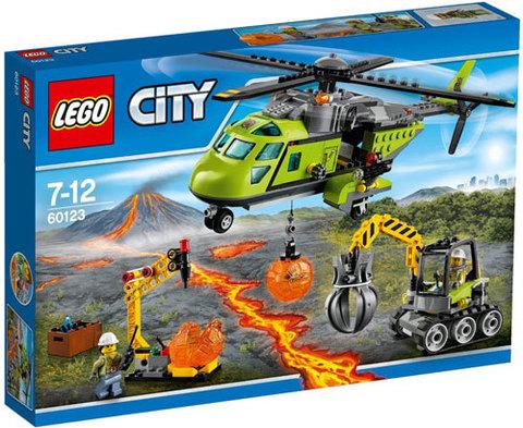 LEGO City: Грузовой вертолёт исследователей вулканов 60123 — Volcano Supply Helicopter — Лего Сити Город