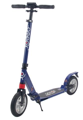 Самокат для взрослых Аteox Prime 300 с надувными колесами (синий)