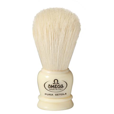Помазок для бритья Omega натуральный кабан 50068 белый