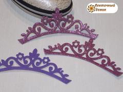 Заготовка Корона цветочная перфорация розово-сиреневая (опт)