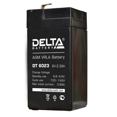 DT 6023 аккумулятор 6В/2.3Ач Delta