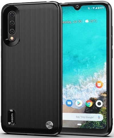 Чехол Xiaomi Mi A3 (CC9E) цвет Black (черный), серия Bevel, Caseport