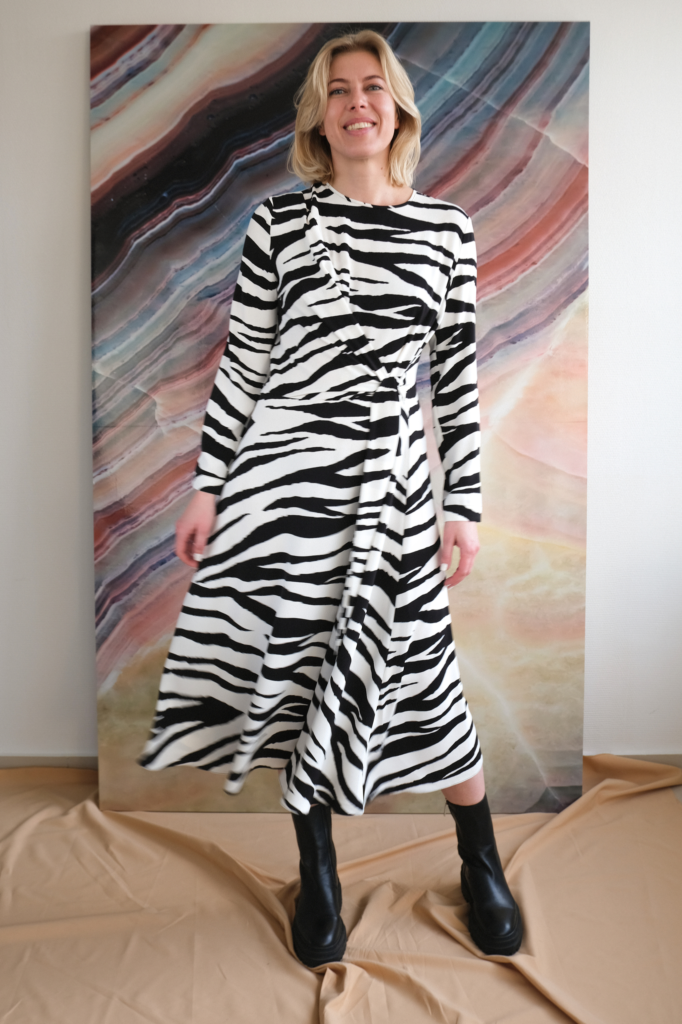 Платье с паттерном