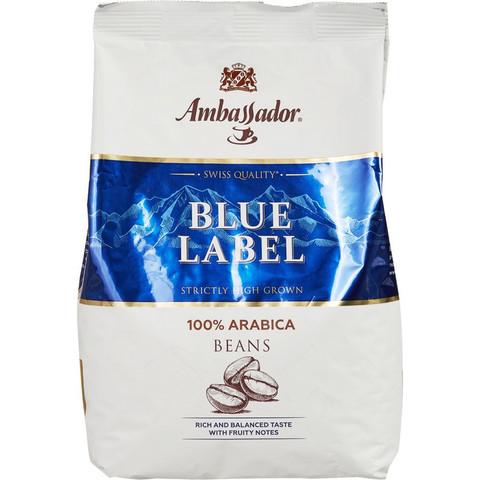Кофе в зернах Ambassador Blue Label 100% арабика 1 кг