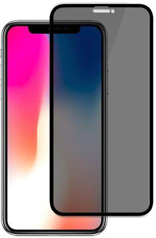 Стекло защитное iPhone XS Max 2.5D Black Matte Privacy Антишпион
