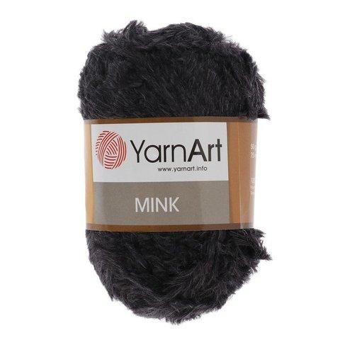 Пряжа YarnArt Mink - (346 черный)