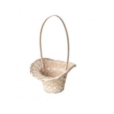 Корзина плетеная Шляпа (бамбук), D13х9хH31см, белый