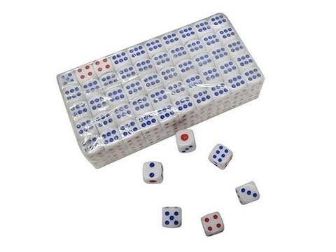 Кубик игровой. В упаковке 100 шт. :(18#-Б):